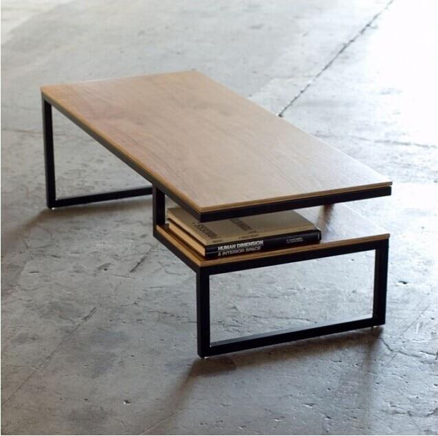 Européenne Meubles Rétro, Forgé Café De Fer Bois De Table Table Basse  Minimaliste Table Basse