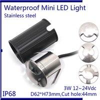 IP67 12V 24V 1 2 4 Side Walk Ingroun Light Stainless Steel 3W Led Floor Decking