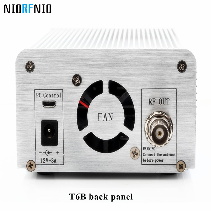 Free Shipping Professional NIO-T6B 1W/6W Silver Color Hifi Amplifier FM Radio Broadcast Station nio t6b 1w 6w output power fm radio transmitter for home party broadcasting