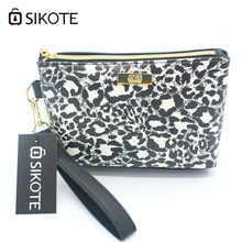 SIKOTE Portable Women's Cosmetic Bags Fashion Leopard High Quality Storage Waterproof Washbag Female Make up Bags For Mujer