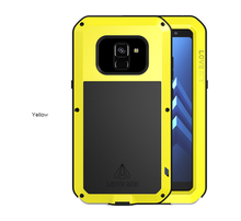 LOVE MEI Case For Samsung Galaxy A8 2018 A8Plus Shockproof Full Body Protect Armor For Samsung A8 2018 Plus+Gorilla Glass Screen