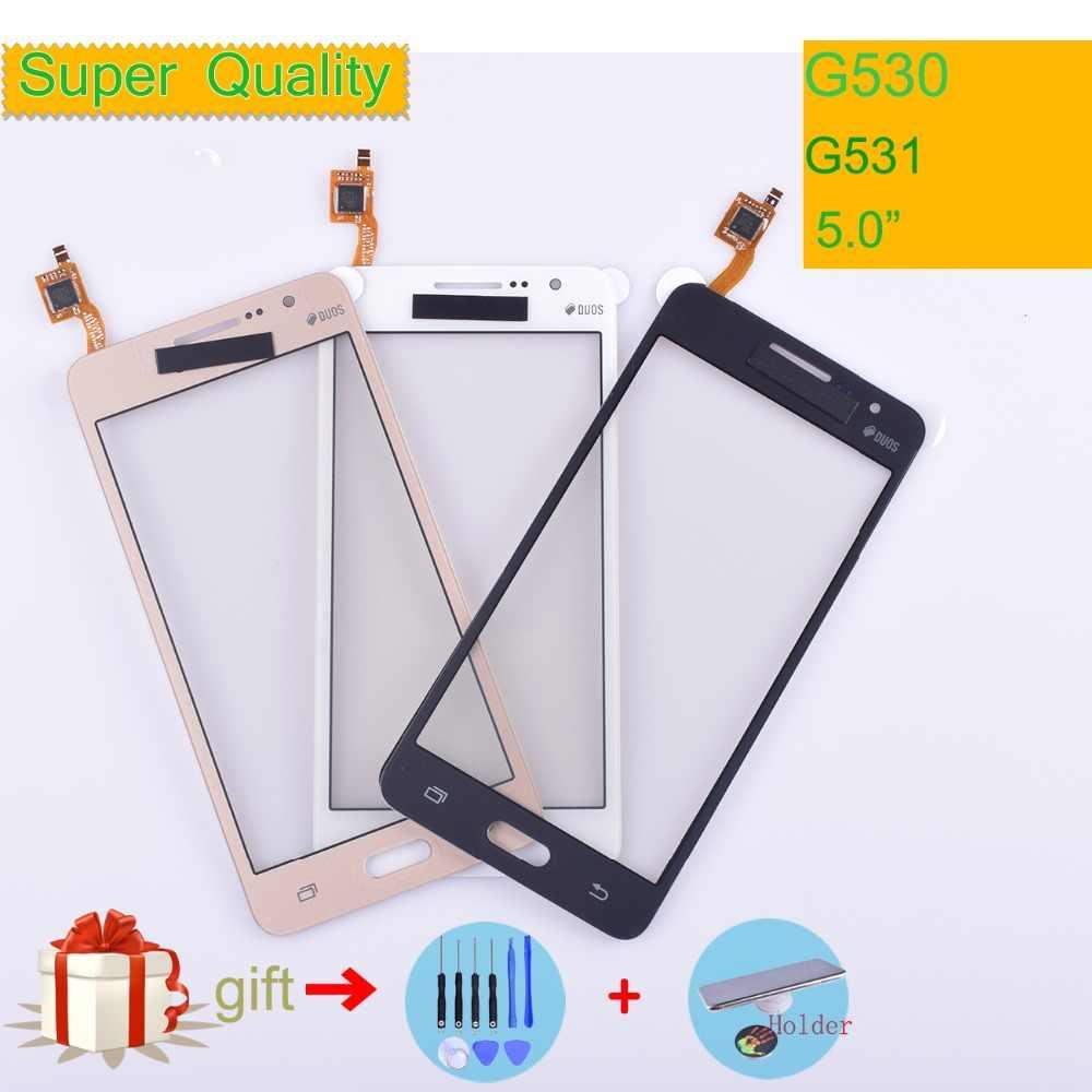 G530 G531 شاشة تعمل باللمس لسامسونج غالاكسي جراند برايم G531H G531F G530H G530F G5308 محول الأرقام بشاشة تعمل بلمس لوحة الاستشعار لا LCD