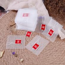 100 шт./партия, чайные пакетики, пакетики для заваривания струн, пакетики для заживления, бумажные чайные пакеты, пустые чайные пакеты, 7x6 см