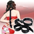 High Quality Nylon Handcuffs & Neck Collars Female Hands Neck Connecting Bondage Restraints Cuffs Sex Toys For Women
