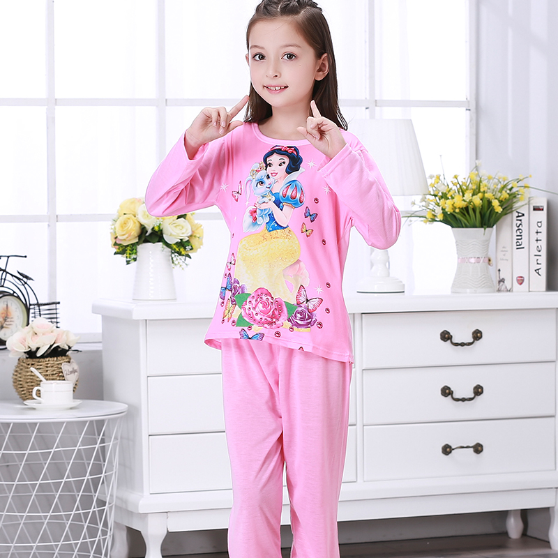 New 2018 Autumn Winter Baby Sleepwears Suit Lovely Gilr Pajamas Children Pyjamas Girls Cartoon Pijamas Kids Clothing Set цены онлайн