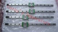 100% Новые оригинальные HIWIN линейные руководство 2pcsx HGR20 L1000mm Rail + 4 шт. x HGH20CA узкие вагоны для ЧПУ