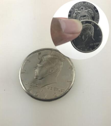 Magnetic Flipper Coin Butterfly Coin(USD Half Dollar Copy) Magic Tricks Magic Accessories Magicians Props Gimmick