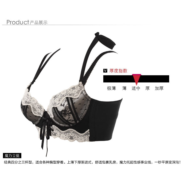 759ca366e9 New 2017 luxury brand embroidered flowers bow halter neck lace bra ...