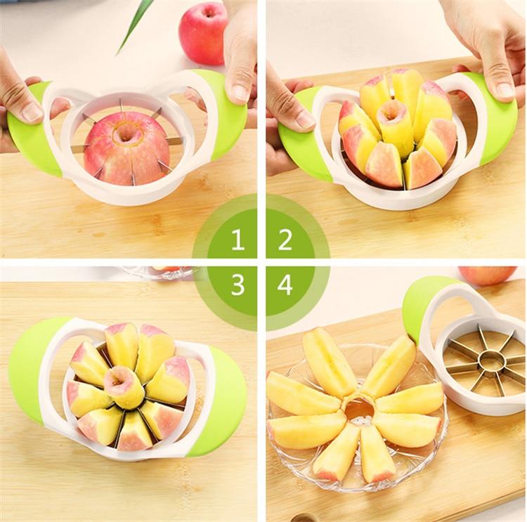 Apple Slicers Corers Tool Cut fruit Multi function Stainless Steel Fruit Vegetable font b Salad b