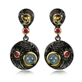 Black&Gold Plated Vintage Earrings for Women  Made with AAA Cubic Zirconia Drop Earrings Allergy Free Lead Free