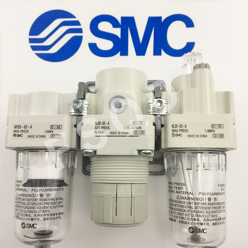 AC20-02 AC20A-02G-A AC20-02-A AC20A-02-A AC30A-03-A AC30A-03G-A AC40A-04-A composants Pneumatiques SMC Triple source de Gaz série AC