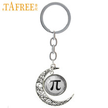 TAFREE Math Symbol Pi Moon Pendant Keychain New Fashion Keychain Key Ring Gift Teachers Keychain Car Key Women Men Jewelry T134(China)