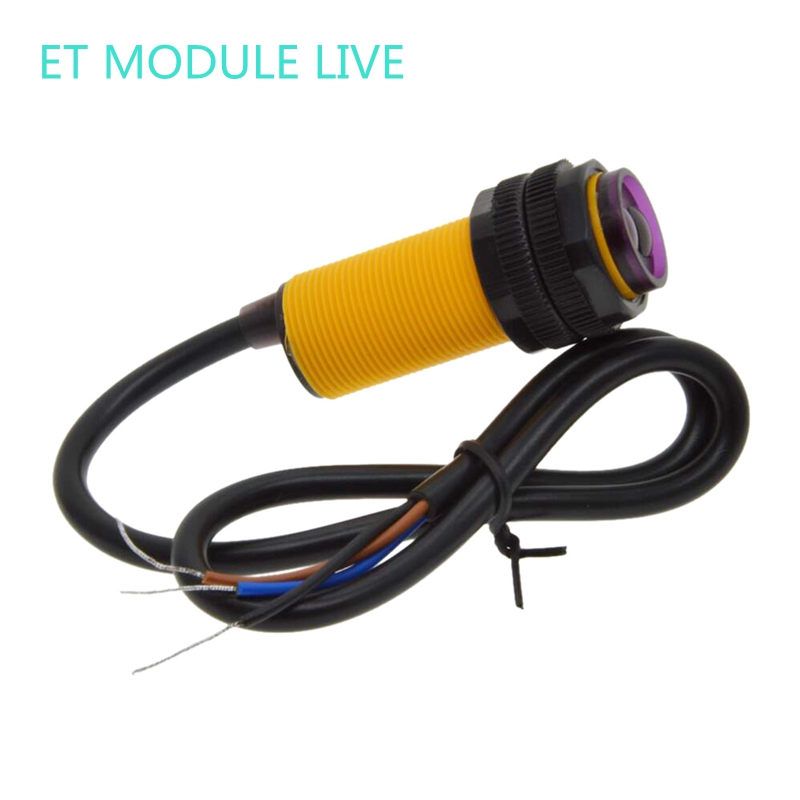 E18-D80NK Smart Car Robot   Infrared Obstacle Avoidance Photoelectric Sensor Proximity Switch 3-80cm Detection Range Adjust