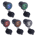 Universal Car Charger USB Vehicle DC12V-24V Waterproof Dual USB Charger 2 Port Power Socket 5V 2.1A/1A car-charger