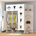 Armario Simple Economía Moderna minimalista IKEA Europea muebles de Dormitorio Armario combinación Única de plástico pequeño armario