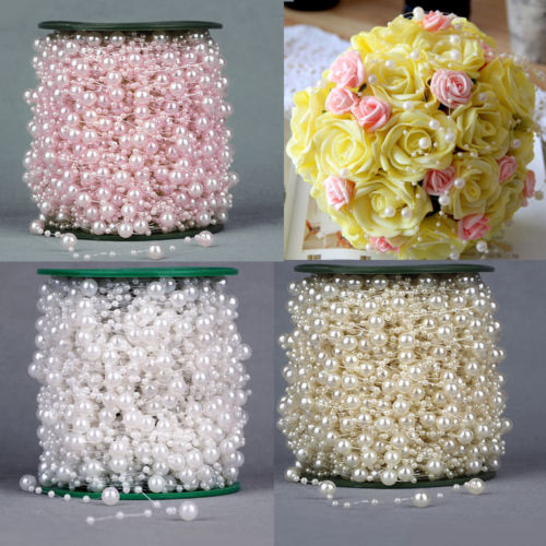5m 10m 60m Fishing Line Pearls Chain Pearl Beads Chain: White Flower Chandelier Reviews