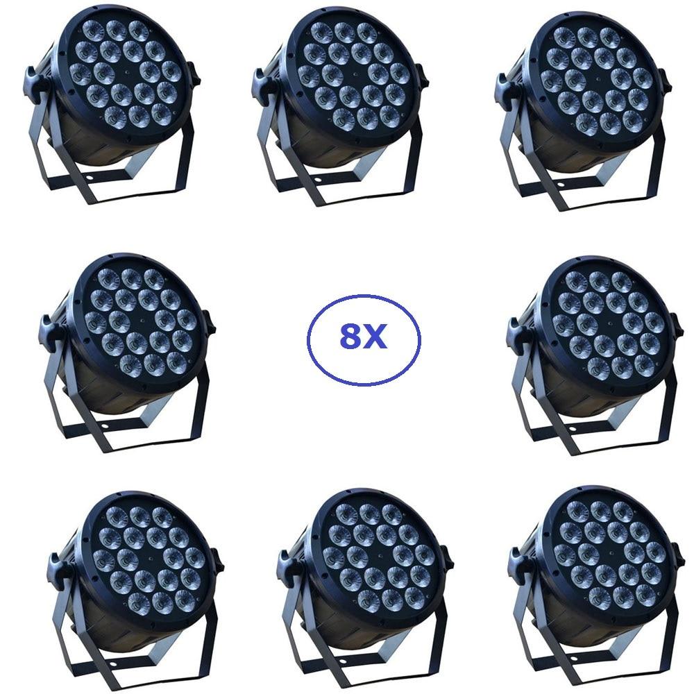 8xLot DJ Necessity Disco DMX Lamp LED Par Light 18x12W RGBW Quad Color Home Party Lights DJ Equipment Stage Effect Beam Lighting niugul 10w rgbw led moving head beam light high power professional dmx stage effect lighting party ktv disco dj lights led beam