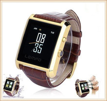Neue LF06 Bluetooth Smart Watch Smartwatch Luxus Leder IPS Business Armbanduhr Full View HD Bildschirm Für Android IOS Telefon