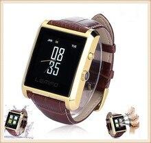 ใหม่LF06บลูทูธดูสมาร์ทวอทช์หรูหราหนังIPSธุรกิจนาฬิกาข้อมือแบบเต็มดูHDหน้าจอสำหรับA Ndroid IOSโทรศัพท์