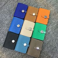Genuine Calfskin Luxury Designer Business Card Holder Credit Card Holder Dogon Passport Cover
