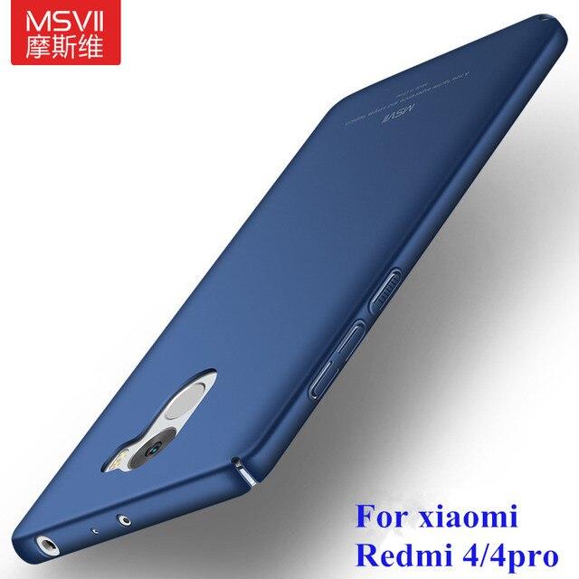 Untuk Xiaomi Redmi 4 pro Kasus, MSVII Untuk Xiaomi Redmi 4 Global Kasus Frosted PC redmi 4pro prime Aksesoris Penutup Perlindungan Penuh