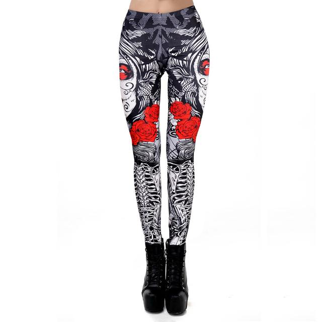 3D FLOWER SKULL LEGGINGS (8 VARIAN)