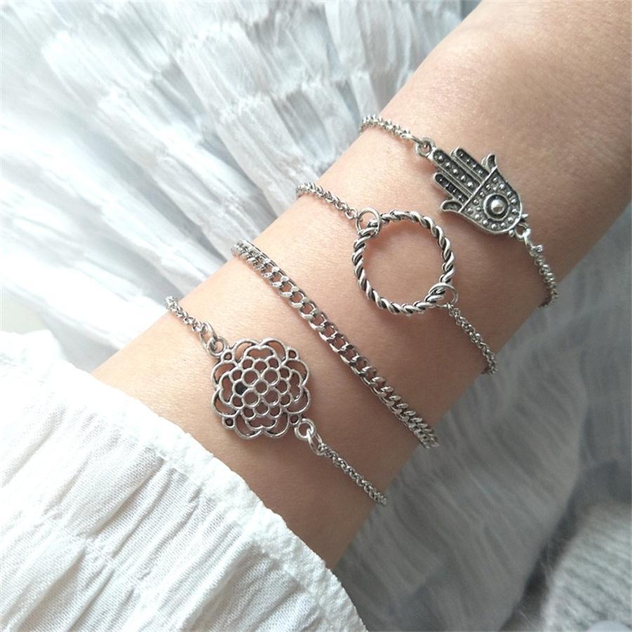 30 стильный браслет в стиле бохо, слон, сердце, ракушка, звезда, луна, бант, карта, Хрустальный браслет из бисера, женские очаровательные вечерние ювелирные изделия, аксессуары для свадьбы - Окраска металла: 021