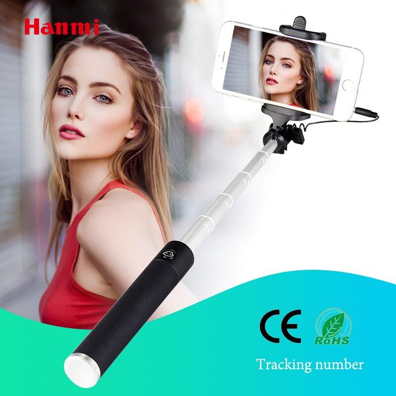 Hanmi New Haute Qualité Trépied Manfrotto Bâton Palo Selfie Monopode Selfie Bâton Pour iPhone Samsung Huawei Xiaomi IOS Android Bâtons