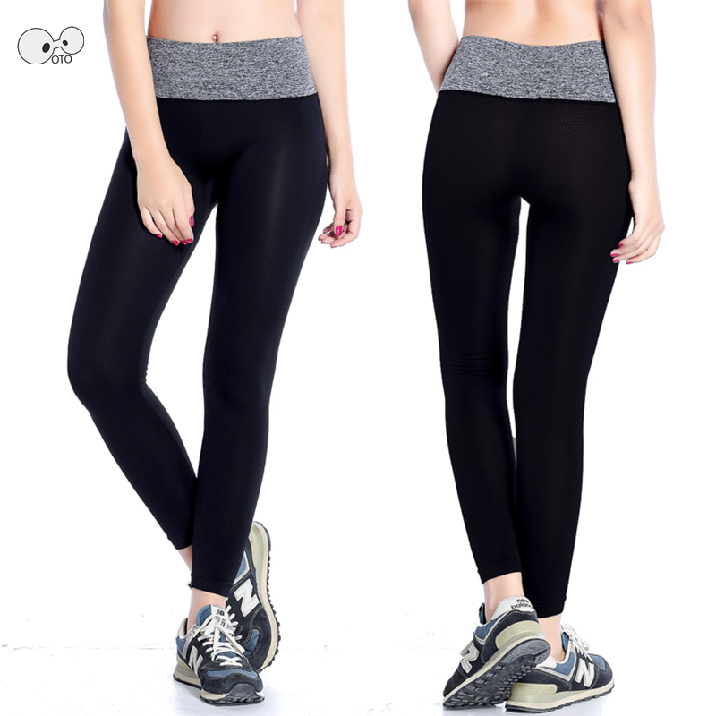 New Women Elastic Running Exercise Tights Yoga Sports Pants Fitness Gym Training Leggings Workout Breathable Sportswear Trousers