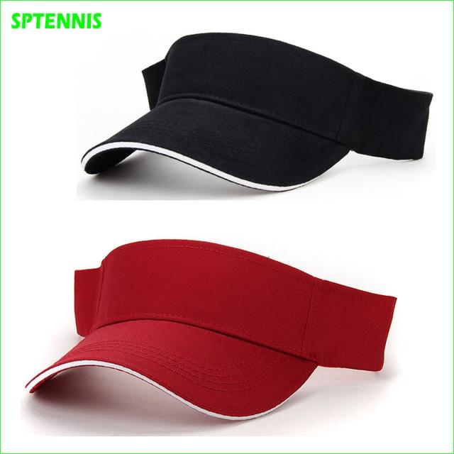 ac9c4a79cfb Unisex Empty Top Visor Cap Women Sunscreen Hats Man Cotton Snapback Cap  Adjustable For Running Tennis Golf