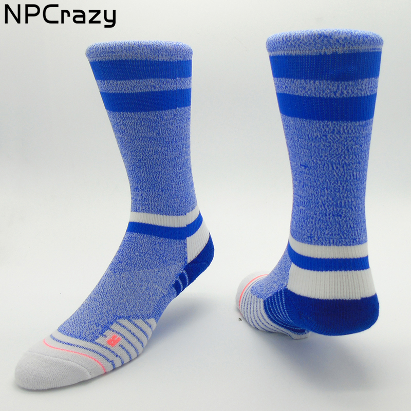 SKY STATIC CREW Compression Socks for Women Training Athletic Running Socks Blue Strip Cycling Sock Sport