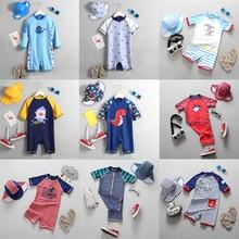 Детский купальный костюм для мальчиков, новинка 2018 года, купальный костюм с рисунком акулы для маленьких мальчиков, цельный купальный костюм для малышей, купальные костюмы для маленьких мальчиков