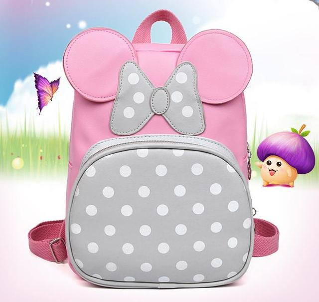 fa6747b9458b 2-7 Years Girls Kindergarten Children Schoolbag Princess Pink Cartoon  Backpack Baby Girls School Bags