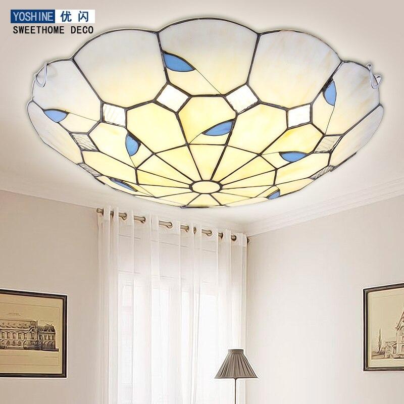 US $106.25 11% OFF|Garten LED schlafzimmer lampe decke wohnzimmer lampen  runde Französisch einfache Europäischen stil restaurant balkon lampe-in ...