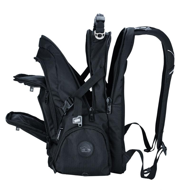 Swiss 17 pouces hommes sac à dos pour ordinateur portable sac étanche en Nylon ordinateur portable sac de haute qualité 37L grand sac à dos de voyage noir SN9801-in Sacs à dos from Baggages et sacs    1
