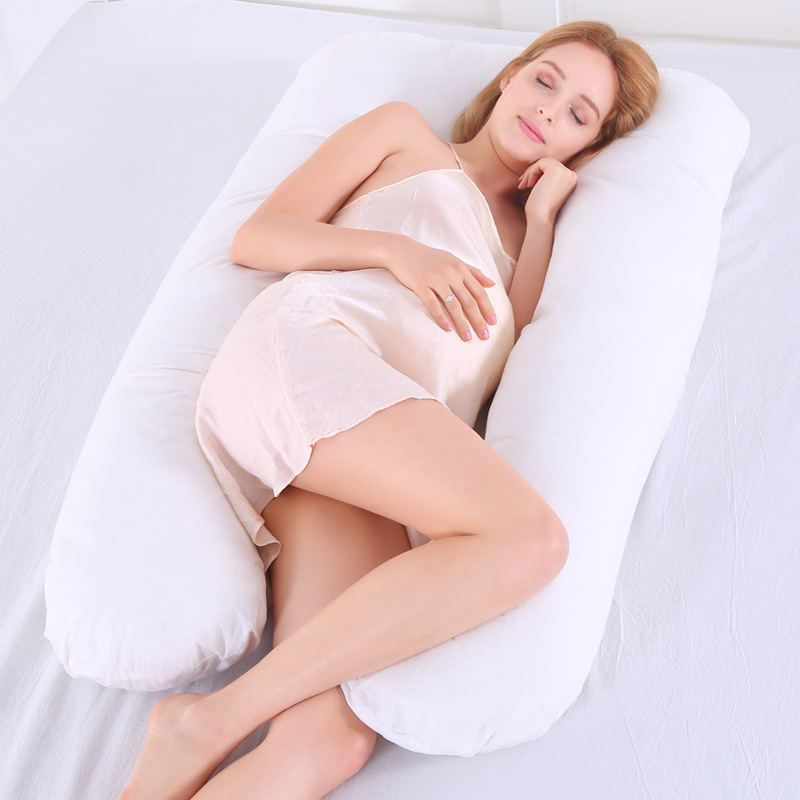 Large Cotton Bedding Pillow for pregnant women Pregnancy pillow U-shape waist belly support protecting sleep and nursing USA