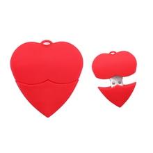 USB stick cartoon love heart usb flash drive 4GB 8GB 16GB 32GB 64G 128G pen cute memory lovely gift pendrive cle