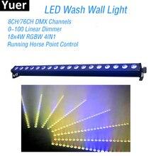 цена на New 18x4W RGBW 4in1 LED Wall Wash Light DMX LED party wedding bar stage Lights DJ Disco flood Wall Washer lighting Stage Effect