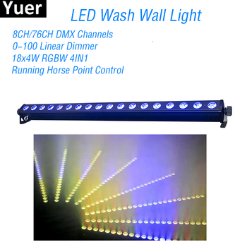 New 18x4W RGBW 4in1 LED Wall Wash Light DMX LED party wedding bar stage Lights DJ Disco flood Wall Washer lighting Stage Effect