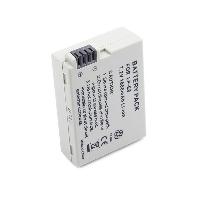 1PC LP-E8 Li-ion Battery 7.2 V 1800mAh Digital Batteries For Canon DSLR Camera 550D 600D 650D 700D X4 X5 X6i X7i T2i T3i T4i T5i