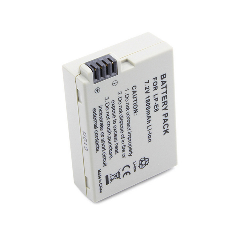 1PC LP-E8 Li-ion <font><b>Battery</b></font> 7.2 V 1800mAh Digital <font><b>Batteries</b></font> for <font><b>Canon</b></font> DSLR Camera 550D 600D <font><b>650D</b></font> 700D X4 X5 X6i X7i T2i T3i T4i T5i image