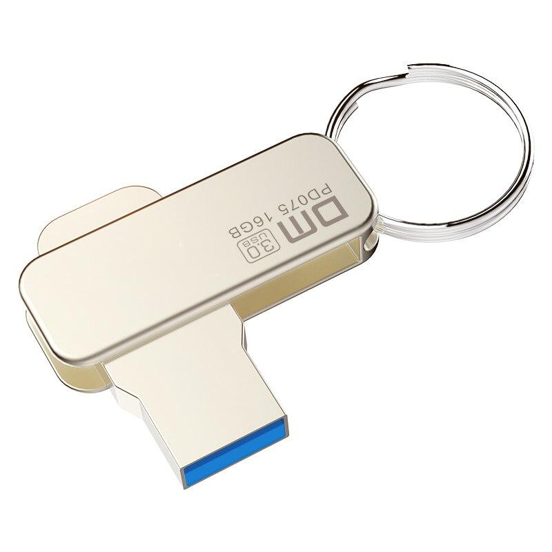 DM PD075 USB Flash Drive 16GB Metal Pendrive USB 3.0 Memory Stick Pen Drive Real Capacity USB Stick