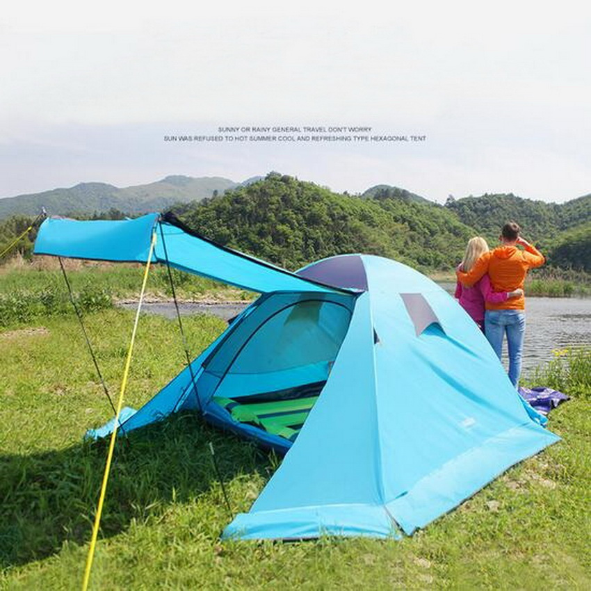 Ultra-light, aluminum with snow skirt outdoor camping tent, 3-4 double, anti-rain, tourism mountaineering tents mcintosh tourism – principles practices philosophies 5ed
