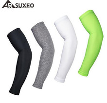 ARSUXEO Men's Bicycle Bike Cycling Cooling Arm Sleeves One Pair Athletic UV Protective Cover Basketball Arm Warmer Oversleeve цена