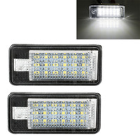 2pcs 18 SMD LED License Plate Lights Lamps Bulbs For Audi A3 A4 8E RS4 A6