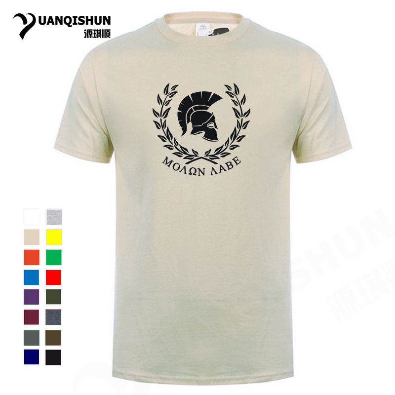 New Molon Labe Military   T  -  shirt   Men Cotton Tops Tees Hop Hip   T     Shirt   16 Colors Boutique Mens   T  -  shirt   Casual Fitness Tops Tee 3XL