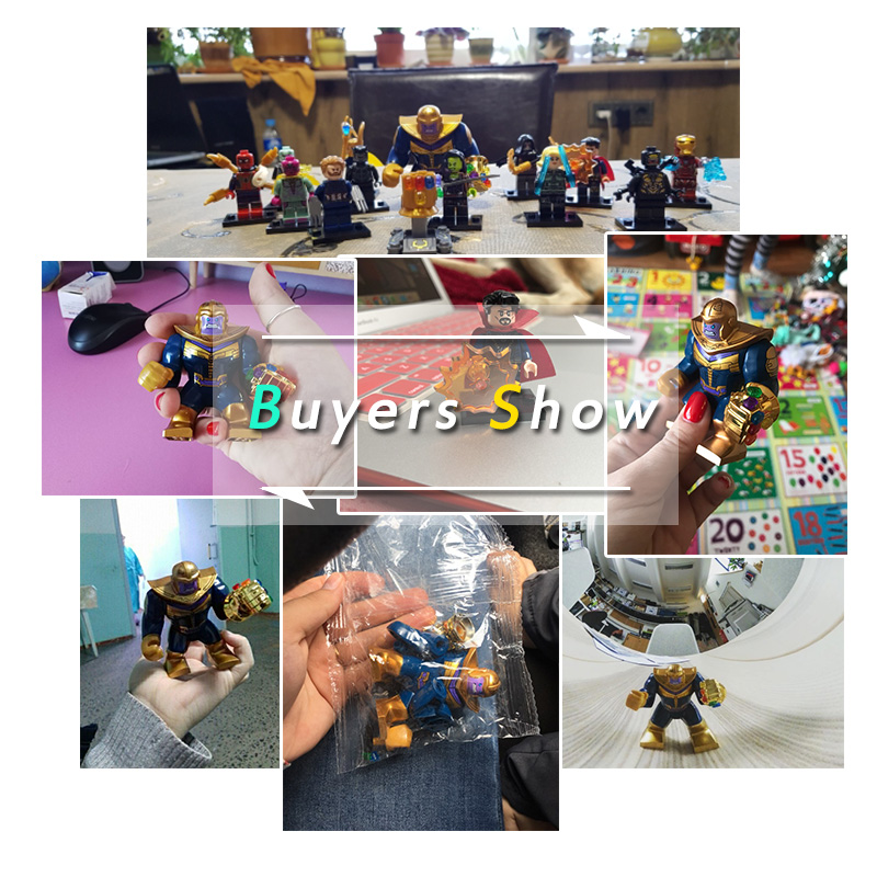 Lego Thanos Energy Stones Gloves Building