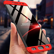 360 Degree Full Protection Hard Case For Samsung Galaxy J4 2018 Cover shockproof case + glass film