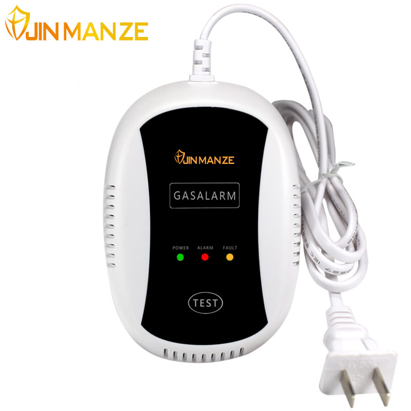 Free Shipping 1pcs JINMANZE 433mhz Wireless Gas Leakage Detector Natural Gas Alarm Safety Device Kitchen Security alarm