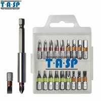 TASP 20 stücke Farbe Codiert Schraubendreher Bit Set Kopf PH Torx Flache Hex Kopf mit Magnetischer Halter & Lagerung Box -MSWB2025
